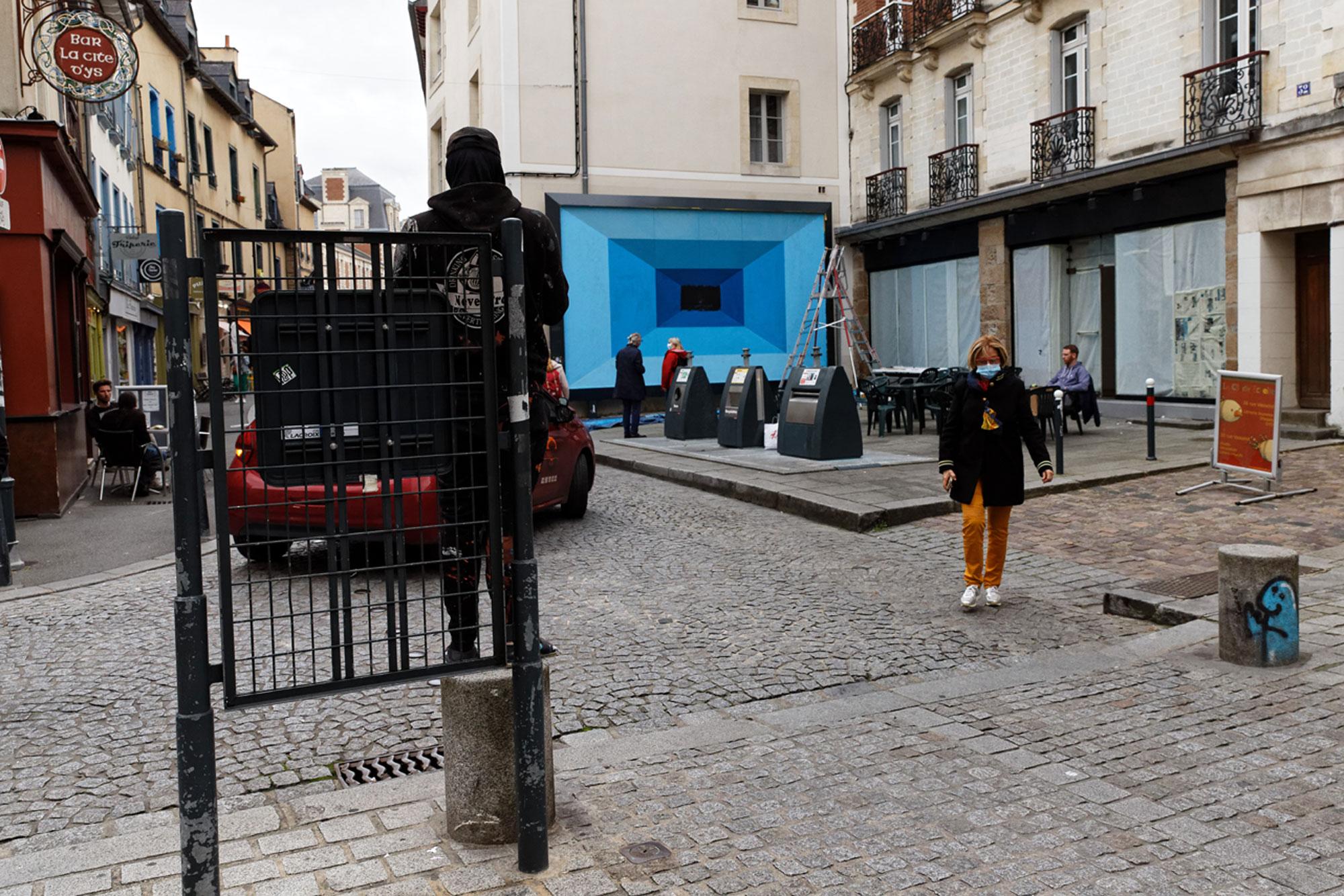 Felix Rodewaldt M.U.R de Rennes - vu de loin - photo Monique Sammut